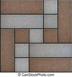 Decorative Slabs Paving. Seamless Texture. - Decorative...