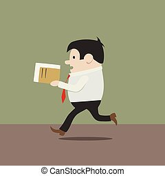 manager in a hurry - This is the illustration of manager in...