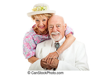 Sweet Southern Senior Couple - Portrait of beautiful senior...
