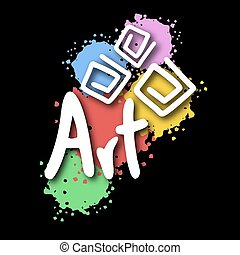 Art symbol sign - Creative design of Art symbol sign
