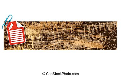 banner with scratches background and document and flash