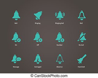 Ringing bell icons.
