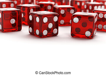 Many red dice