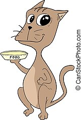 Hungry cat - Creative design of Hungry cat
