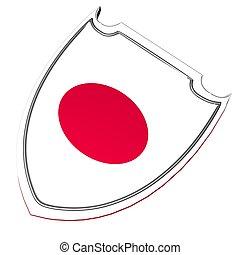 Japão, escudo,