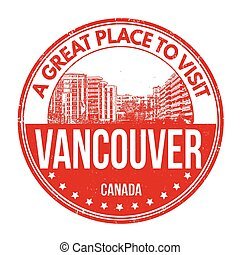 Vancouver stamp - Vancouver grunge rubber stamp on white...
