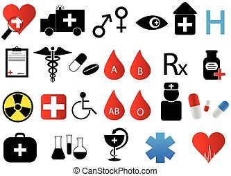 Medical icons - Illustration of medical icons