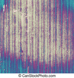 Cracks and stains on a vintage textured . With different color patterns: gray; purple (violet); cyan; blue