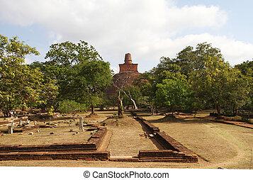 Anuradhapura, Sri Lanka - The Anuradhapura ruins, buddhist...