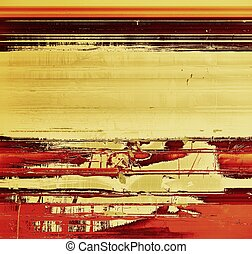 Background with grunge stains. With different color patterns: yellow (beige); brown; gray; red (orange)