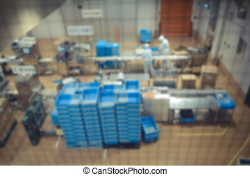 Confectionery factory on production, motion blurr