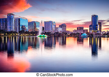Orlando Florida Skyline - Orlando, Florida, USA skyline at...