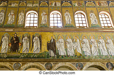 Ravenna Mosaics of Saint Apollinare Nuovo - Christ upon the...