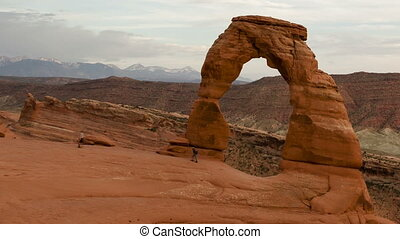 Time lapse close up Delicate Arch - Time lapse close up of...