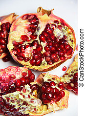Fresh juicy cuted pomegranate - Pieces of fresh juicy cuted...