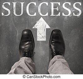 camino, a, éxito,