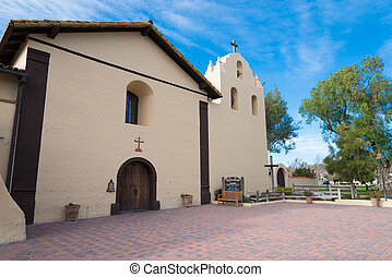 Old Spanish mission in Solvang California - Santa Ynez...