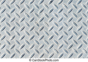 Diamondplate background - Weathered diamond plate background