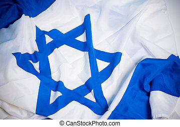 Flag of Israel - Flag of the nation of Israel with the star...