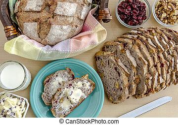 Fresh Baked Cranberry Walnut Bread - Walnut and cranberry...