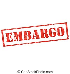 Embargo-stamp - Grunge rubber stamp with text Embargo,vector...