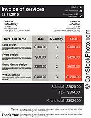 Customizable Invoice  template desi