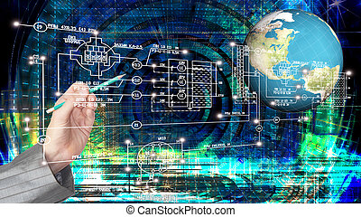 Global  innovative computer Internet technology for business