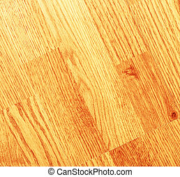 Clean laminated wooden floor