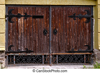 door - old wooden barn door