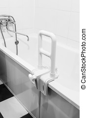 handrail for disabled and elderly people in the bathroom -...