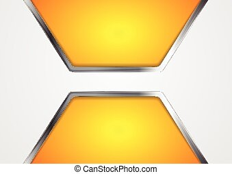 Abstract technical background with metallic elements