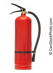Fire extinguisher - New blank red fire extinguisher in...