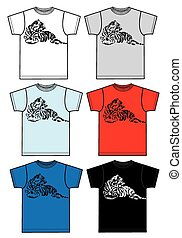 tee for men or boys with a tiger fashion industry...