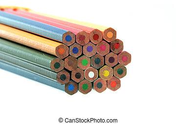 顏色, 鉛筆, 細節