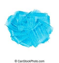 Blue acrylic paint vector banner