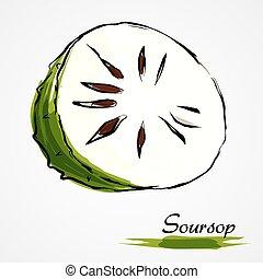 Soursop, guanabana,