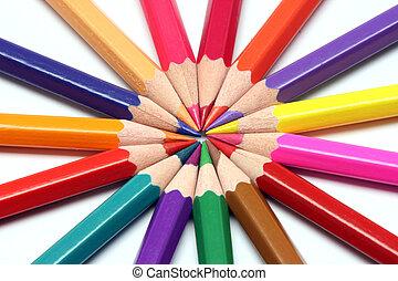 鋒利, 顏色, 鉛筆