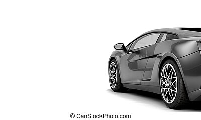 CG render of generic luxury coupe car