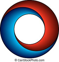 vector abstract red blue circle