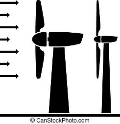 vector wind power plant pictograms - vector wind power plant...