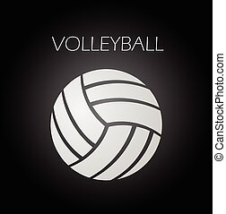 Volleyball ball icon vector eps 10