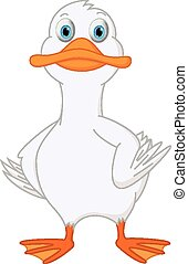 Cute duck cartoon - Vector Illustration of Cute duck cartoon...