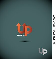 logo business up. Up arrow.