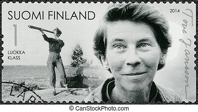 FINLAND - 2014: shows Tove Jansson, writer, 100th birth...