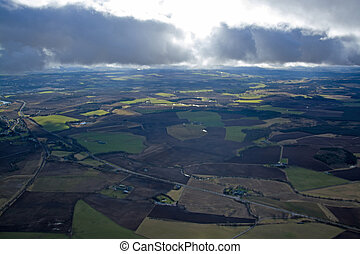 Lowlands, Scottland - Aerial photo, taken during a flight...