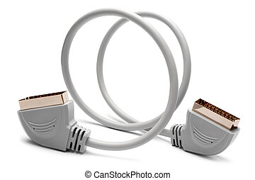 20 Pin Scart to Scart Adapter Cable on white background