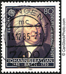 GERMANY - 1985: shows Johann Sebastian Bach (1685-1750) -...