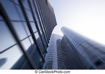 View of Modern Buildings in Paris Business Concept