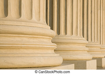 Fluted Columns - Detail of bases of fluted granite columns