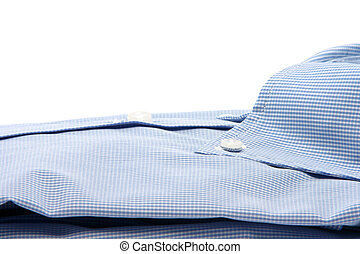 shirt closeup - blue shirt closeup isolated on white...